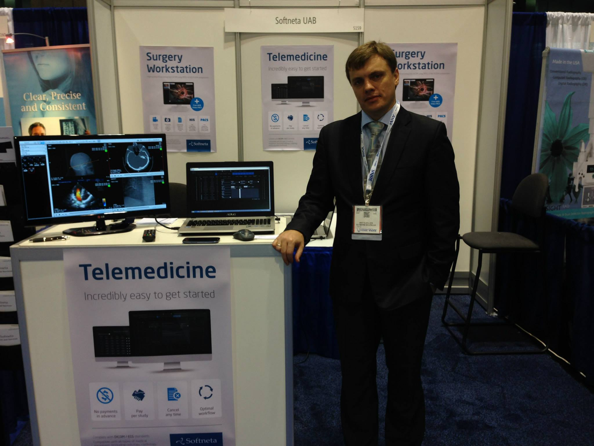 softneta medical imaging solutions and dicom viewer in RSNA